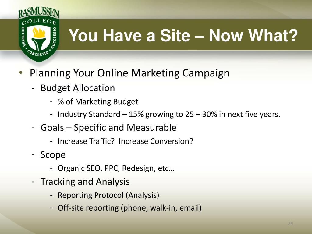 You Have a Site – Now What?