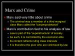 marx and crime