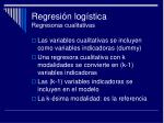 regresi n log stica regresoras cualitativas