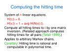 computing the hitting time