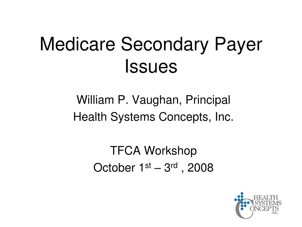 medicare secondary payer issues l.