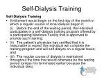 self dialysis training