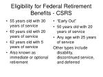 eligibility for federal retirement benefits csrs