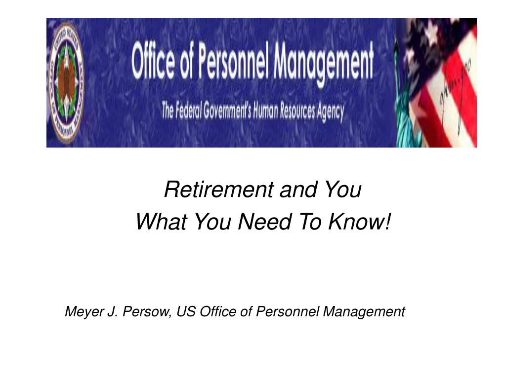 retirement and you l.