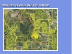 proposed landfill gas pipe routing
