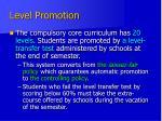 level promotion