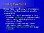 old kingdom period