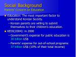 social background parents concern on education