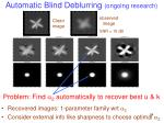 automatic blind deblurring ongoing research