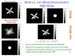 blind v s non blind deconvolution high noise
