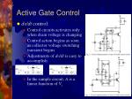 active gate control15