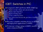 igbt switches in pic