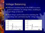 voltage balancing