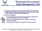 enhanced use leasing asset management tool