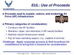 eul use of proceeds