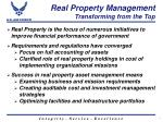 real property management transforming from the top