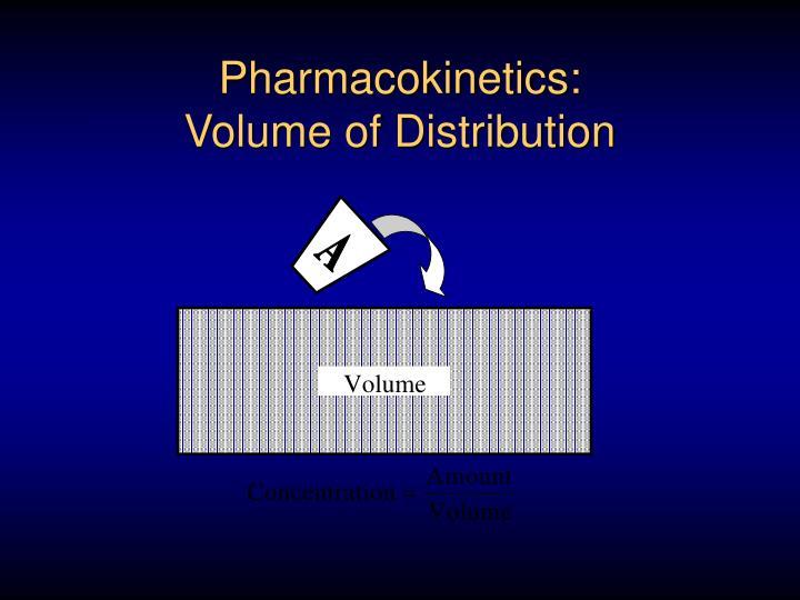 Pharmacokinetics volume of distribution