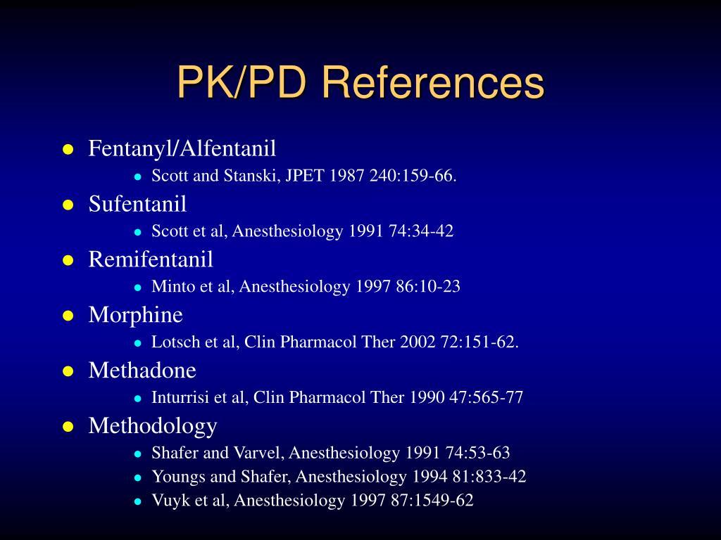 PK/PD References