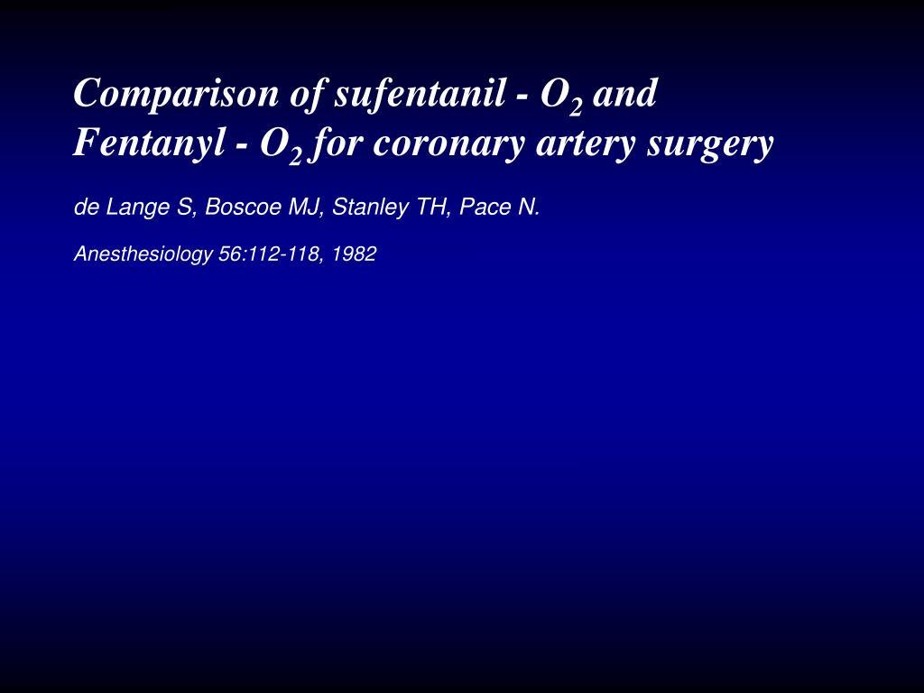 Comparison of sufentanil - O