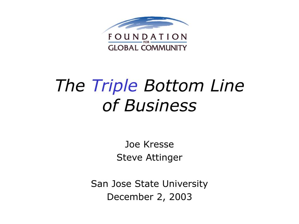 the triple bottom line of business l.