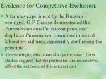 evidence for competitive exclusion