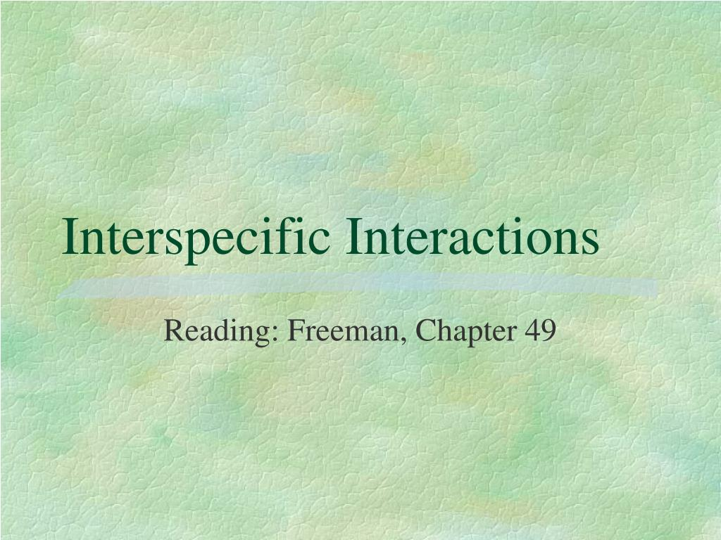 interspecific interactions l.