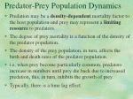 predator prey population dynamics