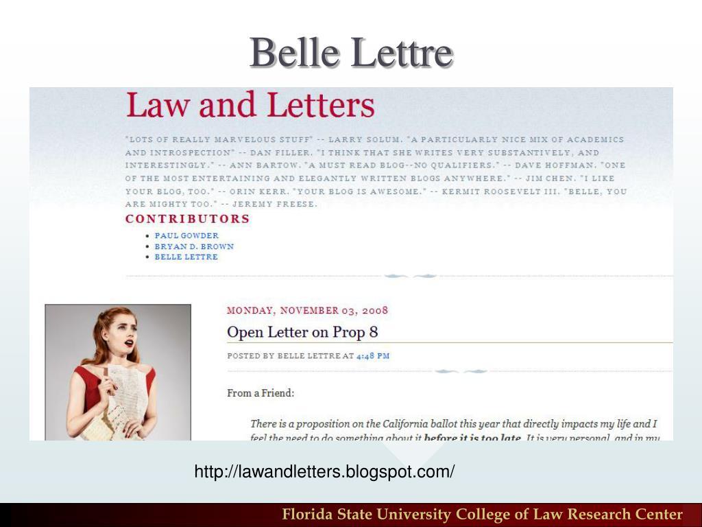 Belle Lettre