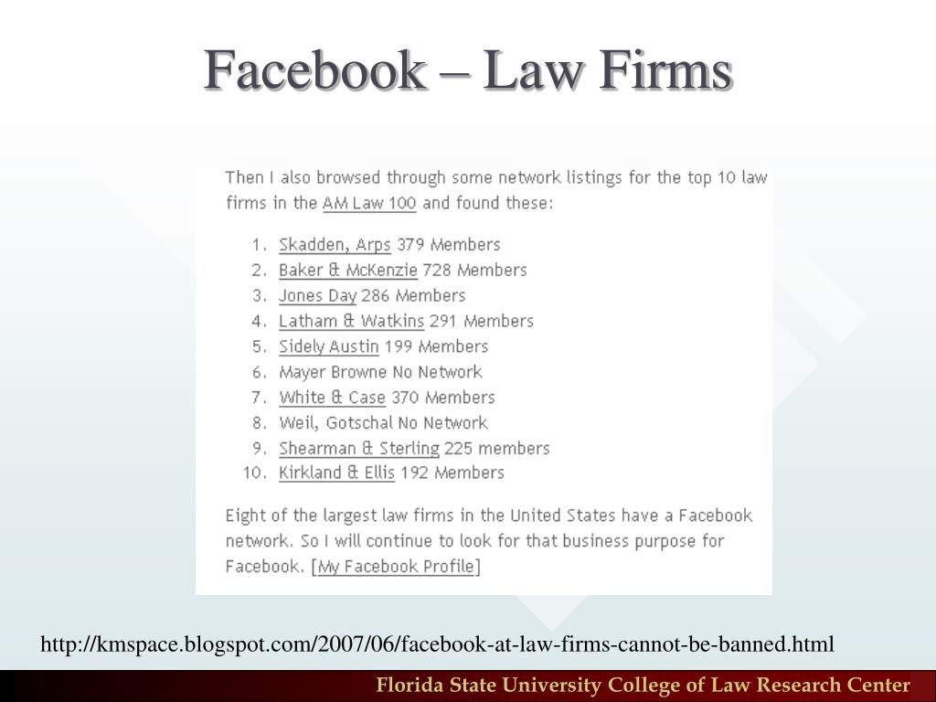 Facebook – Law Firms