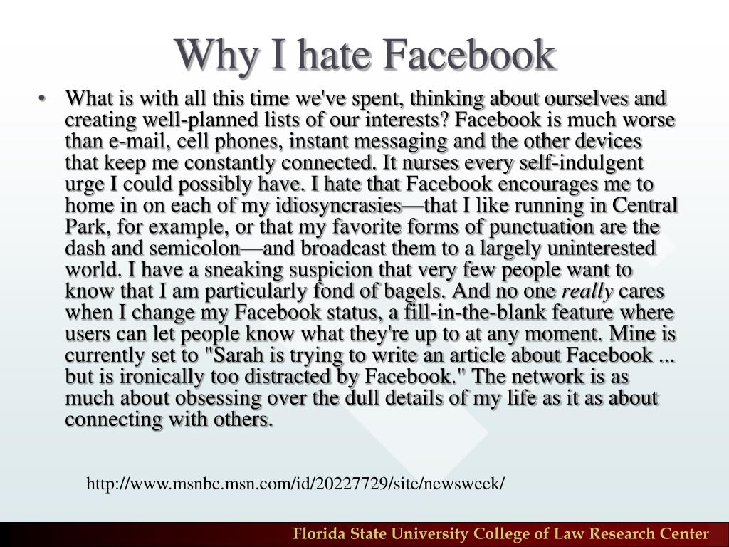 Why I hate Facebook