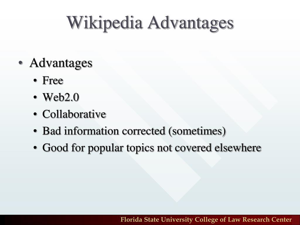 Wikipedia Advantages