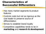 characteristics of successful differentors27