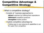 competitive advantage competitive strategy