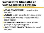 competitive strengths of cost leadership strategy