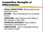 competitive strengths of differentiation
