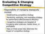 evaluating changing competitive strategy