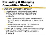 evaluating changing competitive strategy49