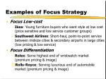 examples of focus strategy