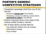 porter s generic competitive strategies