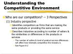 understanding the competitive environment6
