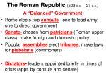 the roman republic 509 b c 27 b c10