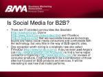is social media for b2b