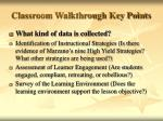 classroom walkthrough key points5