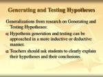 generating and testing hypotheses74