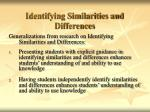 identifying similarities and differences20