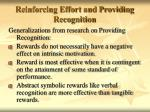 reinforcing effort and providing recognition61