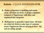 rubric clean refrigerator