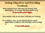 setting objectives and providing feedback27