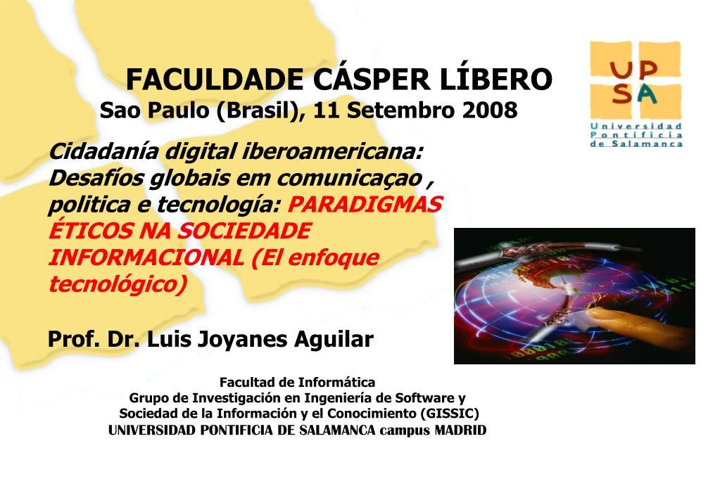 faculdade c sper l bero sao paulo brasil 11 setembro 2008 l.