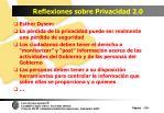 reflexiones sobre privacidad 2 0